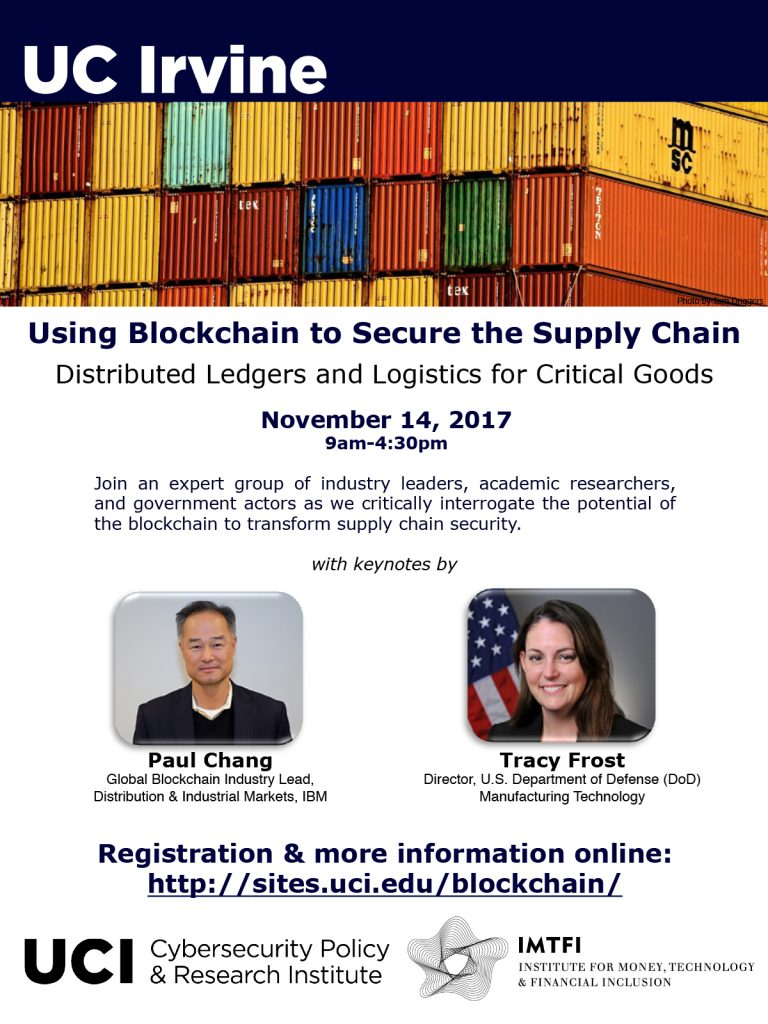 Using Blockchain to Secure the Supply Chain